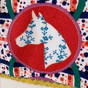 Anthropologie Kitchen - Anthro horse print novelty kitchen tea towel